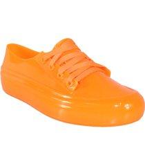 tenis 100% plástico naranja wanted converse