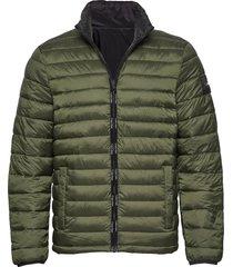 reversible nylon jacket gevoerd jack groen calvin klein