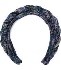 missoni braided headband - blue