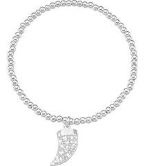 bracciale cornetto in metallo in stile boho chic per donna