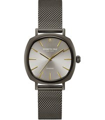 kenneth cole new york women's stainless steel & diamond mesh bracelet watch