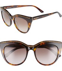 juicy couture 51mm cat eye sunglasses in dark havana at nordstrom