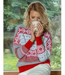 sweter z wzorem