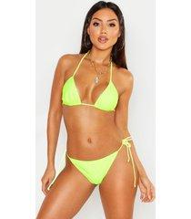 neon minimal tan line bikini, neon-yellow