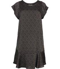 joie women's carlen print flounce dress - caviar - size xxs