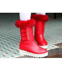 pb183 awesome pointy wedge booties, hair top,, us size 4-10.5, red
