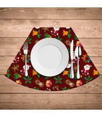 jogo americano para mesa redonda wevans elementos natalinos kit com 6 pçs