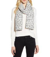 women's halogen leopard jacquard wool & cashmere scarf