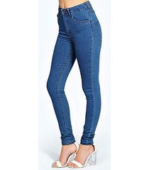 charlie super high waisted mid wash jeans
