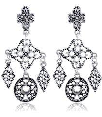 orecchini pendenti vintage a forma di rombo hollow orecchini a forma di stella geometrica con motivo geometrico a forma di luna per le donne