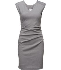 india v-neck dress jurk knielengte grijs kaffe