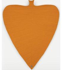 pomarańczowy otulacz - koc dresowy duży liść