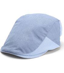 unisex berretto coppola in cotone a righe berretto da newsboy cabbie gatsby golf guida