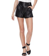women's paige colima leather shorts