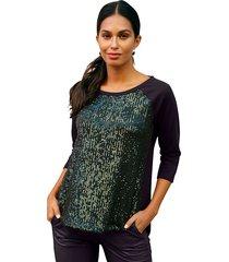 sweatshirt amy vermont zwart::groen