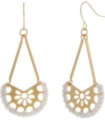 the sak gold-tone filigree drop earrings