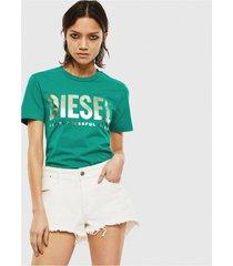 polera t sily wx t shirt verde diesel