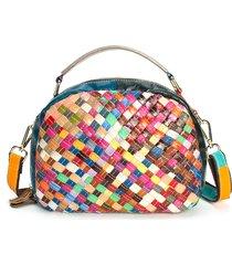 borsa a tracolla bohemian vintage intrecciata da donna. borse in vera pelle vintage