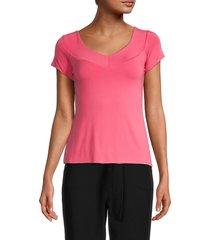 bailey 44 women's linda v-neck top - pink - size l