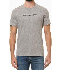 camiseta masculina logo básico cinza mescla calvin klein jeans - p