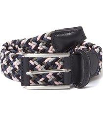 anderson belt's multi pink & grey woven belt b0667 ne41
