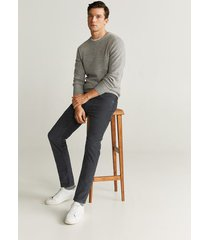 corduroy slim-fit broek met denim effect