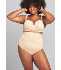 lane bryant women's slimmer high-waist thong panty 12 cafe mocha
