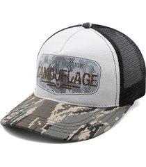 gorra blanco-verde-negro colore