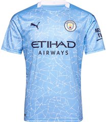 manchester city men's home jersey t-shirts football shirts blå puma