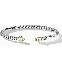 women's david yurman 4mm cable classic bracelet with 18k gold & semiprecious stones