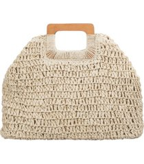 melie bianco harley straw large tote bag