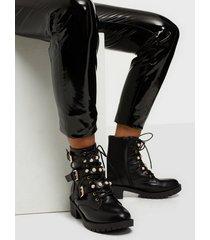 bianco biapearl biker boot flat boots