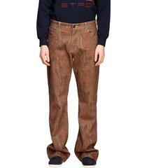 etro jeans etro flaire denim jeans with arnica print