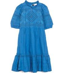 talitha half sleeve dress in blue