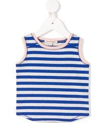 caramel aldwych striped-print vest - blue
