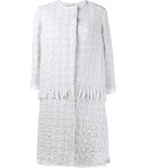 by walid crocheted coat - white