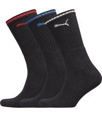 puma sport crew stripe 3p underwear socks regular socks svart puma