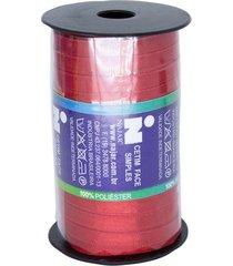 fita de cetim nº01 7mm carretel com 100m vermelho