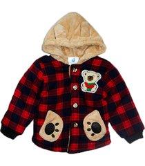 jaqueta casaco manabana infantil grossa com pelucia vermelha - vermelho - l㣠- dafiti