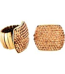 anel armazém rr bijoux cristais mel