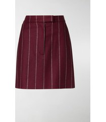 thom browne shadow stripe mini skirt