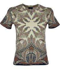 etro floreal paisley print t-shirt