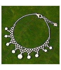 cultured freshwater pearl beaded bracelet, 'inspired tiara' (thailand)