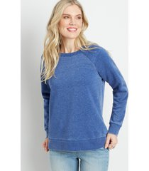 maurices womens solid bright crew neck sweatshirt blue