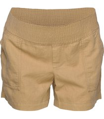maternity shorts in linen-cotton shorts chino shorts beige gap