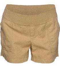 maternity shorts in linen-cotton shorts chino shorts beige gap