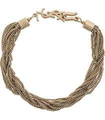 saint laurent loulou twisted chains bracelet - metallic
