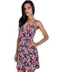 vestido floral viscose handbook