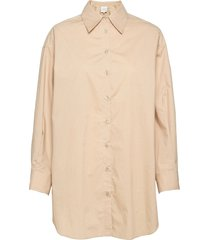 larkin over d shirt overhemd met lange mouwen crème second female