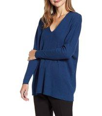 women's anne klein rib v-neck sweater
